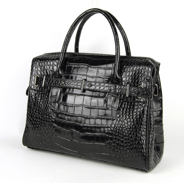 Women Nappa Split Leather Shoulder Satchel Handbag Fashion Crocodile Pattern Purse Designer Alligator Bags Lady Daily Work