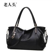 LAORENTOU women bags 2016 new top quality genuine leather Luxury fashion women handbags, big bag