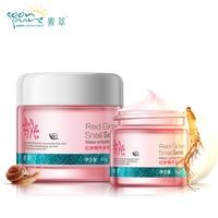 SOONPURE Red Ginseng Snail Cream Eye Cream Skin Care Face Ageless Whitening Moisturizing Acne Treatment Black Head Remover