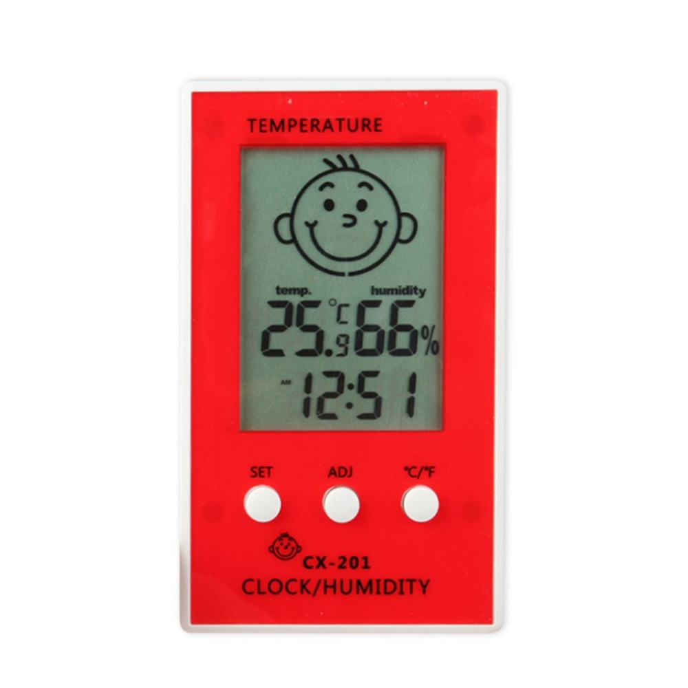 CX-201 Electronic Thermometer Hygrometer Weather Station Digital Indoor Outdoor LCD Screen Temperature Humidity Monitor Meter