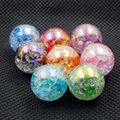 50pcs 10mm(0.39in)2016 Hot New!!! DIY Acrylic mixed AB Rainbow Color Full Crackle Beads for Making necklace bracelet accessories