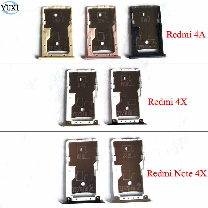 Yuxi 1 PC Emas Rose-Gold Hitam SIM Kartu Adaptor SIM Slot Pemegang Penggantian untuk Xiaomi Redmi 4A 4X Catatan 4X