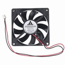 5 Pcs/Lot Gdstime 80mm 80x80x15mm 2Pin 8CM Brushless DC 24V PC Case Cooler Fan Black