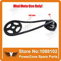 Mini Moto 47cc 49cc Drive System 108 links loops Chain with Gear Box And Rear Sprocket Fit Mini Moto Pocket Bike Free Shipping