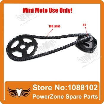 Sistema de transmisión Mini Moto 47cc 49cc 108 eslabones cadena bucles con caja de cambios y piñón trasero, se ajusta Mini Moto bicicleta de bolsillo envío gratis