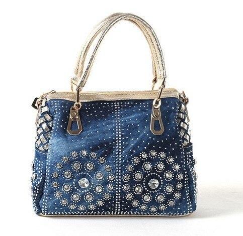Casual Ladies Tote Bags Designer Crystal Diamond Women Messenger Bags Famous Brand Luxury Handbags Women Bags