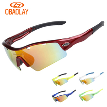 Obaolay Polarized Cycling Glasses Bike Outdoor Sports Bicycle Sunglasses Goggles 5 Groups of Lenses Eyewear for bicycle sport