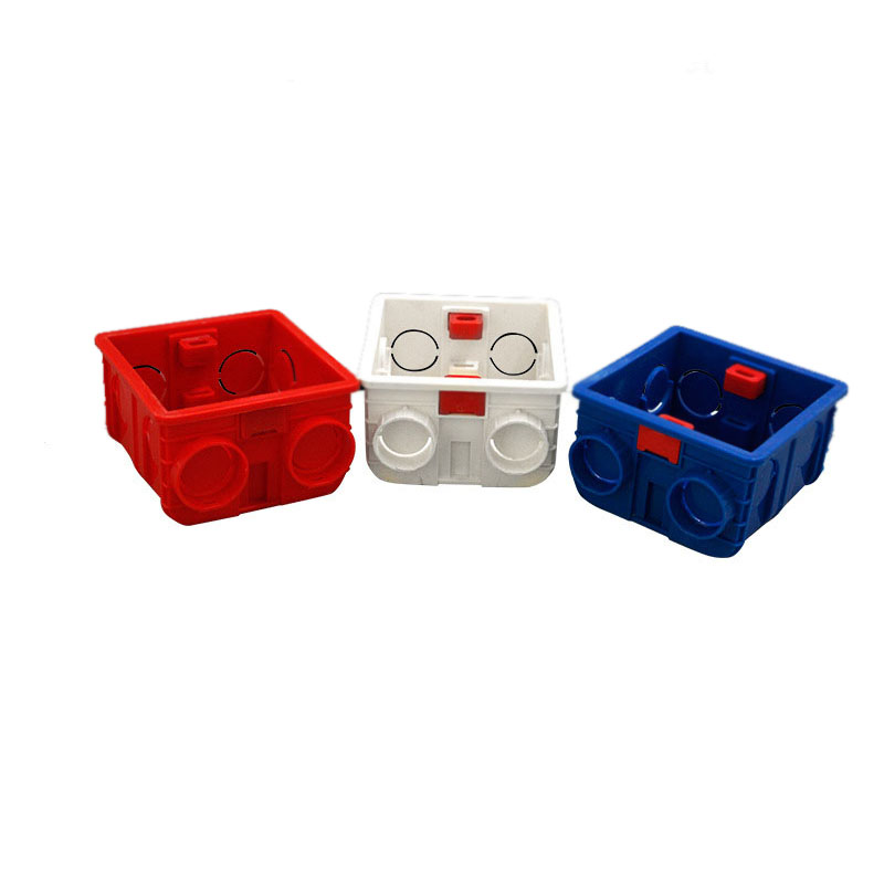 3 Colors Available Adjustable Mounting Box Internal Cassette 86mm 83mm 50mm For 86mm 86mm Type Switch