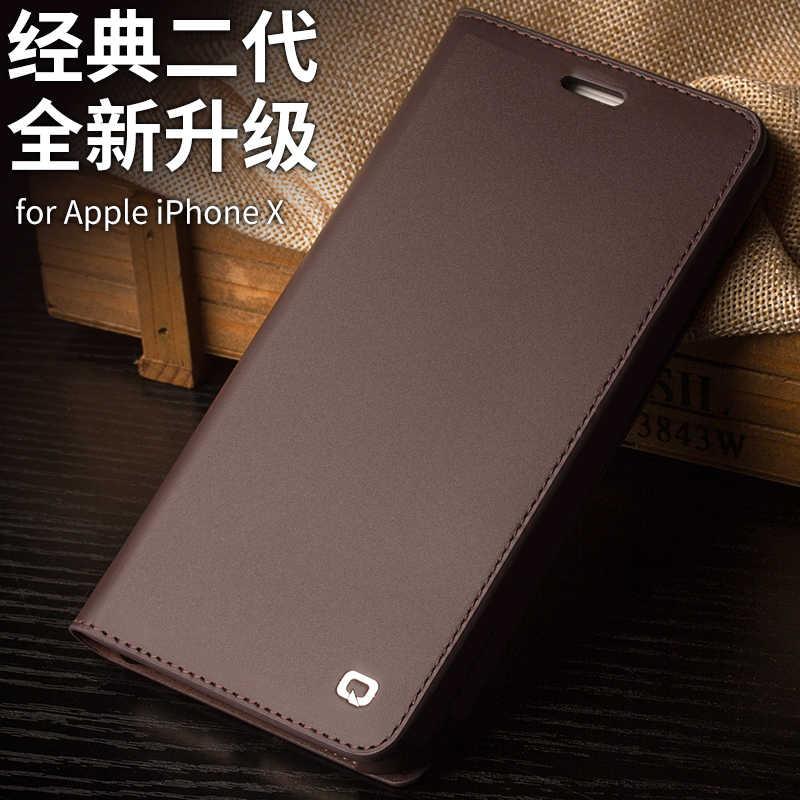 Nova carteira bolsa de telefone sacos para iphone X bolso cartão genuíno reais couro natural couro de vaca pele virar caso capa para iphoneX