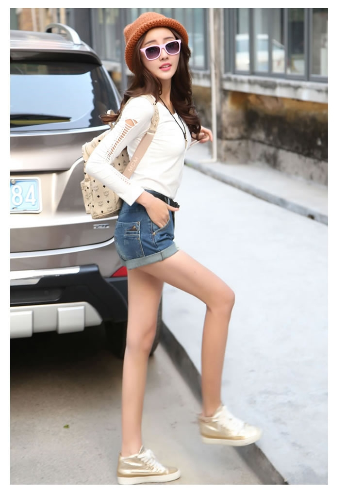 Plus Size summer 2015 new loose denim Shorts girl ladies casual ...
