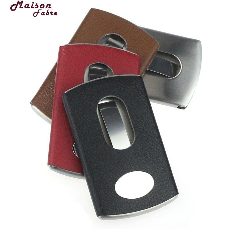 Office & School Supplies Transparent Plastic Thumb Slide Out Pocket Business Credit Card Holder Case Desk Organizer Accessories 100x60mm
