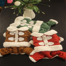 New Styles Snowflake Winter Pet Clothes Capped Four Teddy Pomeranian Bichon Clothes Warm Down Dog Coats & Jackets