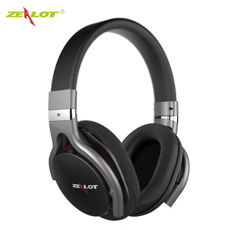 Original Zealot B5 Bluetooth 4.0 Wireless Headphone Stereo Sound Bass Musical Headset With Mic Micro-SD Slot for phones PC each g1100 shake e sports gaming mic led light headset headphone casque with 7 1 heavy bass surround sound for pc gamer