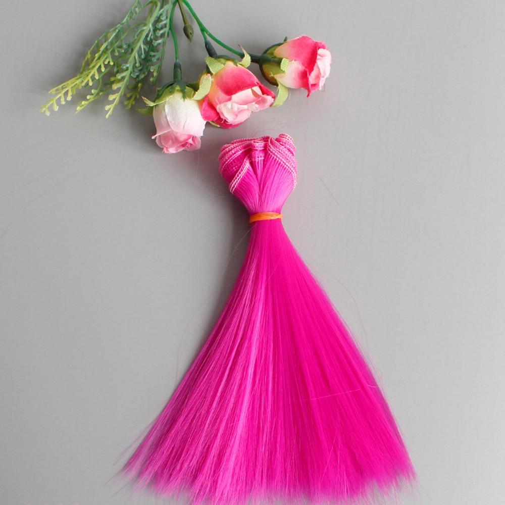 Dolls & Stuffed Toys Bjd Wig Doll Z1224 Fine Craftsmanship Hiinst 1pc Fashion Doll Hair Fashion 15x106cm Wholesale Straight Hair Hair For Diy