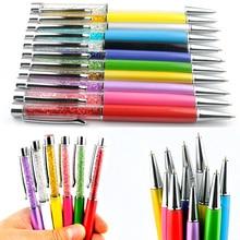 100pcs/lot Crystal Ballpoint Pen Creative Stylus For Writing Stationery Office School Pens Ballpen Black Blue ink Custom Logo