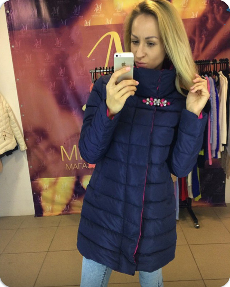 Womens Winter Jackets And Coats Cotton Solid No Slim Sale 2016 New Winter Coat Collar Diamond Color In Long Dresses Warm Jacket lucky panda 2016 the new winter coat and female slim in the long and small lattice fragrant cotton lkp243