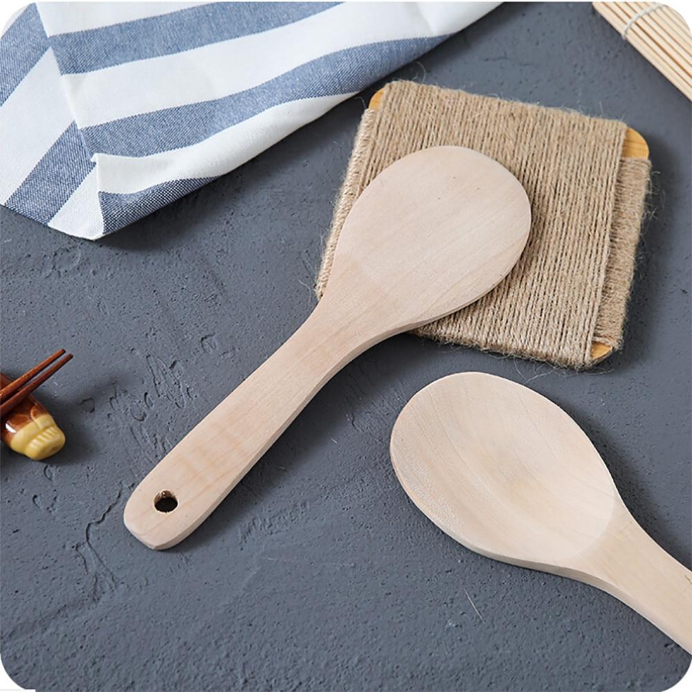 Деревянная кухонная ложка для риса и риса Совок шлицевая лопатка ложка для перемешивания держатель кухонная утварь Ужин еда лопатки для вока принадлежности