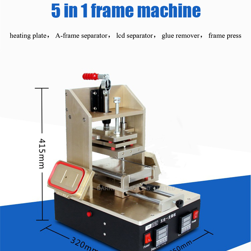 1PC 5 in 1 Frame Separator machine  = heating plate + A frame separator + lcd separator + glue remover+ frame press 220V/110V|machine machine|machine plate|machine lcd separator - title=