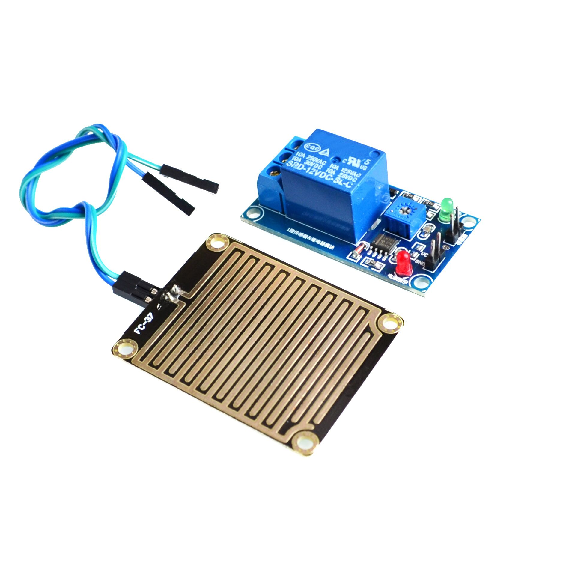 Dc 12v Rain Water Sensor Module Relay Control For Arduino Interface Microcontrollers At89c2051 And At894051 We Keep The Circuit Robot Kit