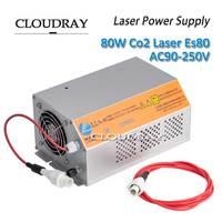 Cloudray 80 100 Вт Лазерной Co2 Питание для co2 лазерная гравировка Резка машины ce AC90 250V hy es80