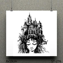 AZSG Famous Building / Quiet Girl Silicone Clear Stamps/Seals For Scrapbooking DIY Clip Art Album Decoration Stamps Crafts