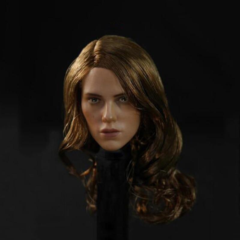 "1//6 Scale Female Model Scarlett Johansson Head Sculpt 2 Colors F 12/"" Figure Body"