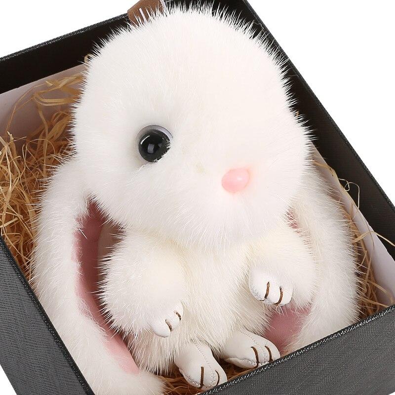 JKP 2018 Morts lapin en peluche lapin pendentif sac suspendus ornements trousseau de vison boule de fourrure pompon mignon charme lapin XP-24