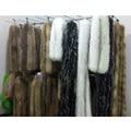 Natural Raccoon Fur Collar Autumn Winter Warm Scarf Collar Cap 200cm*12cm Fur Collar Without Lining Fur Collar Man Womens S#13