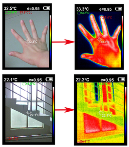 Image 5 - HT 18 يده الأشعة تحت الحمراء الرقمية التصوير الحراري جهاز كشف الكاميرات درجة حرترة تحت الحمراء الحرارة مع تخزين مباراة تسعى/FLIR الحرارية
