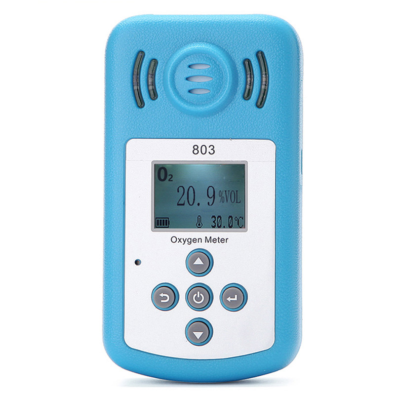 Oxygen Meter Portable Oxygen(O2) Concentration Detector with LCD Display&Sound-light Alarm air quality monitor gas analyzer uyigao ua506 for ppm htv digital formaldehyde test methanol concentration monitor detector withlcd display sound and light alarm
