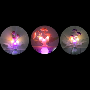 Image 5 - الولايات المتحدة رومانسية LED ضوء الليل الاستشعار المكونات في الجدار مصباح إضاءة المنزل الفطر الفطر ضوء ملون