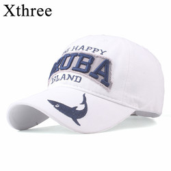 Xthree Good quality Cotton baseball cap for me Dad Hat snapback hat for women embroidery fish cap gorras casual casquette