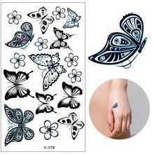 Colored Butterfly Design Fake Tatoo Waterproof Women Body Art Painting Tattoo Stickers Sexy Temporary Tattoo Sticker