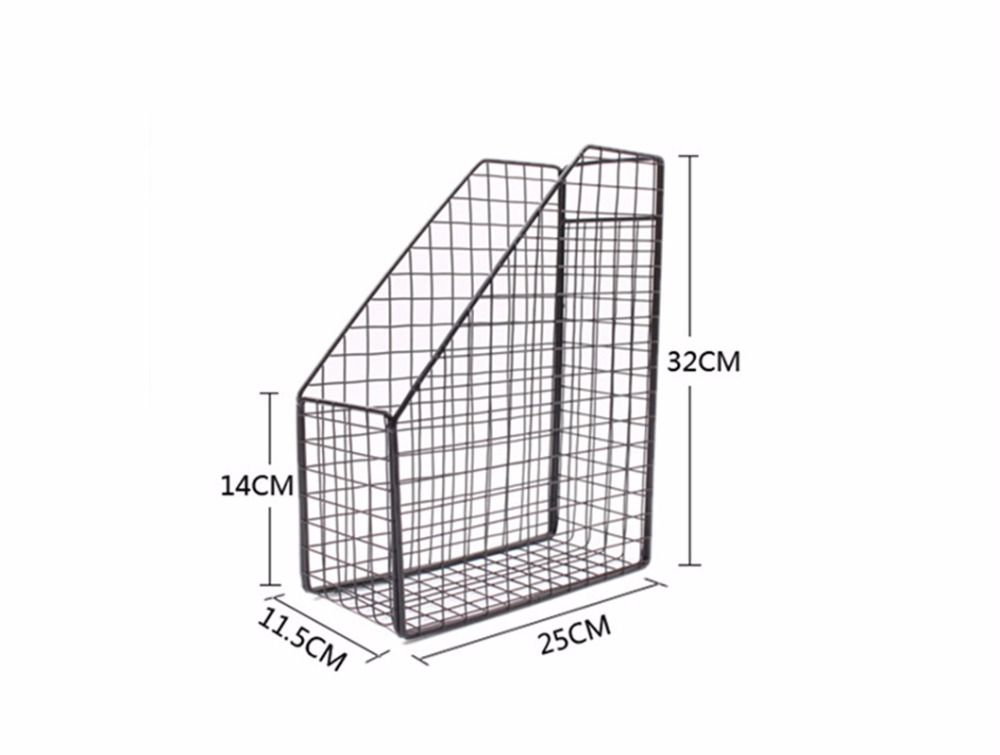Wire Mesh Desk Accessories Organizer Creative Bookshelf-in