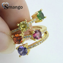 5Pieces,Women Fashion Jewelry,The Rainbow Series Three Circles Shape Rings, 4 Colors, Can Wholesale