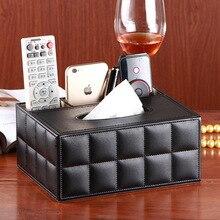 PU leather  Multifunction tissue box European creative napkin storage