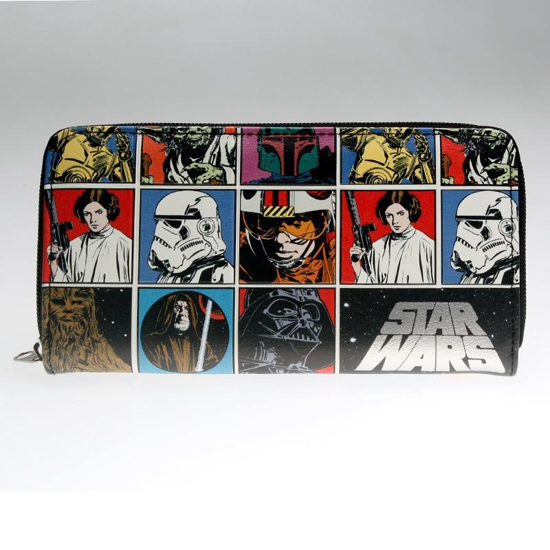 Star Wars  Zip Around Wallet Fashion Women Wallet Designer Brand Purse Lady Party Wallets Female Card Holder   DFT-1893