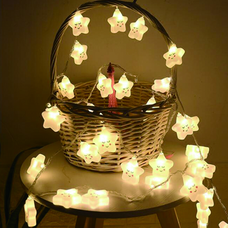 birthday party decorations adult mini led light DIY Smile LED String Lights Event Party garland decoration Bedroom decoration