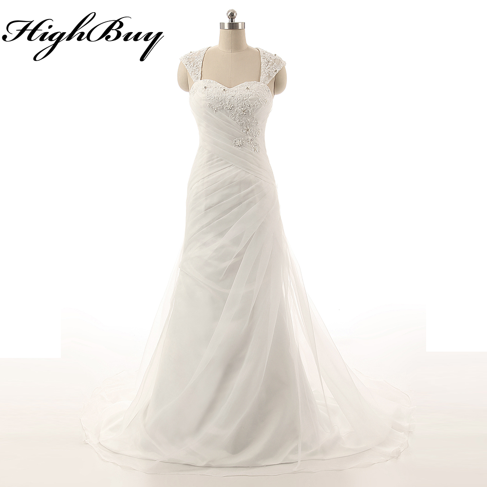 HighBuy 2017 New Long Trail White Enchanted Fairytale Bridal Gowns ...