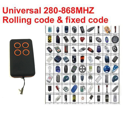 Multy frequency 280-868MHz remote clone universal rolling code transmitter remote кроватки трансформеры glamvers multy