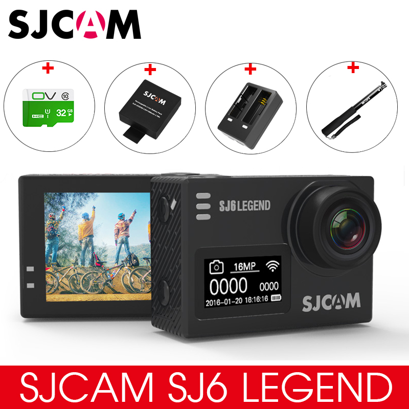 Original SJCAM SJ6 LEGEND 4K 24fps Ultra HD Notavek 96660 Waterproof Action Camera 2.0 Touch Screen Remote Sports DV in stock sjcam legend sj6 wifi notavek 96660 4k 24fps ultra hd waterproof camera action cam 2 0 touch screen remote sport dv
