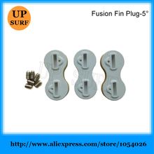 Free Shipping Fins Plug FCS Fins Box Fusion Plug 5 Degree White Fin Box цены