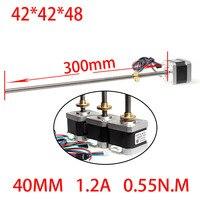42 3D printer screw linear stepper motor linear motor 1.2A 48mm screw 300mm