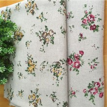 Cotton Linen Floral Fabric DIY Sewing Patchwork Canvas Quilting Material Printed Cloth Crafts Supply