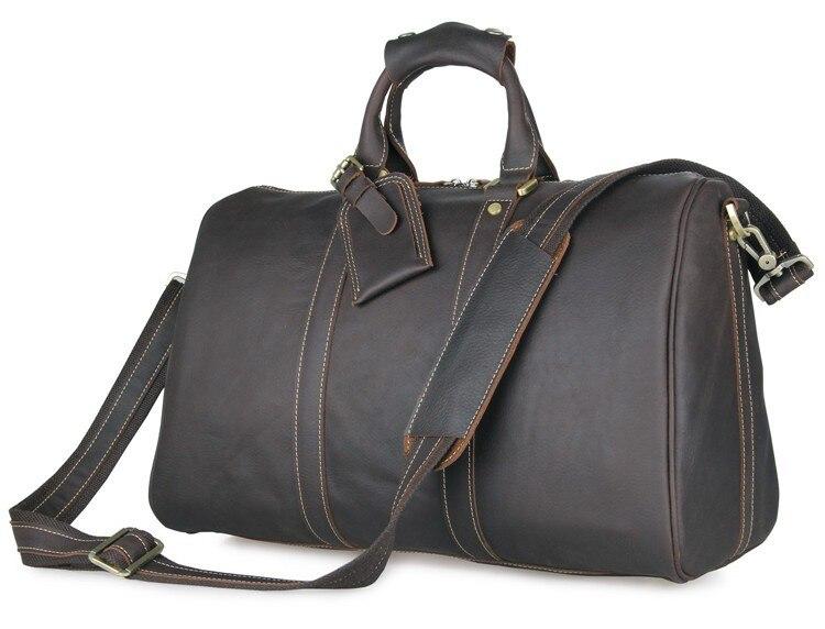 Ручной работы из натуральной кожи Уникальный Tote Чемодан дорожные сумки 7077Q