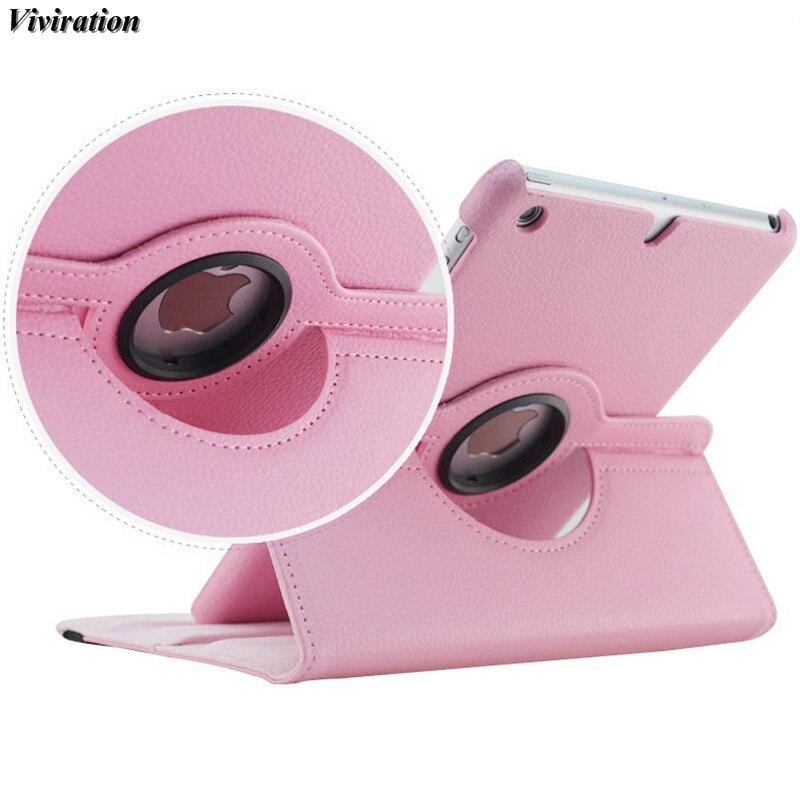 Viviration Smart Flip PU Stand Cover For Apple iPad Mini1 Mini2 Mini3 7.9 Tablet PC 360 Degree Rotation Leather Protective Case