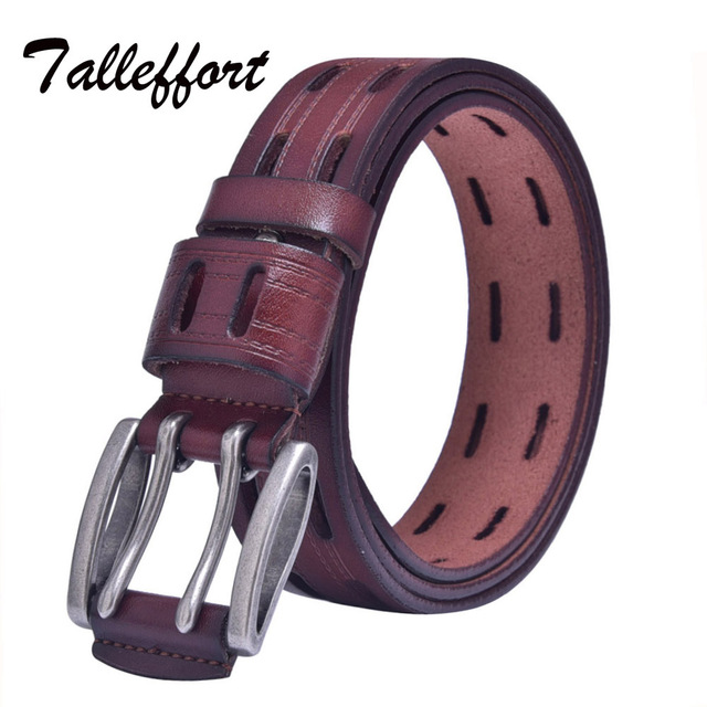 Genuine Leather Luxury Pin Buckle Designer Belts