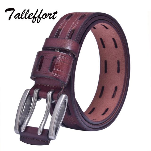 Pin Fivela de Couro genuíno Dos Homens Cintos Luxo Cintos de Grife Para Homens Moda Cintos Cinturon Hombre Ceinture Masculino Marcas Quentes