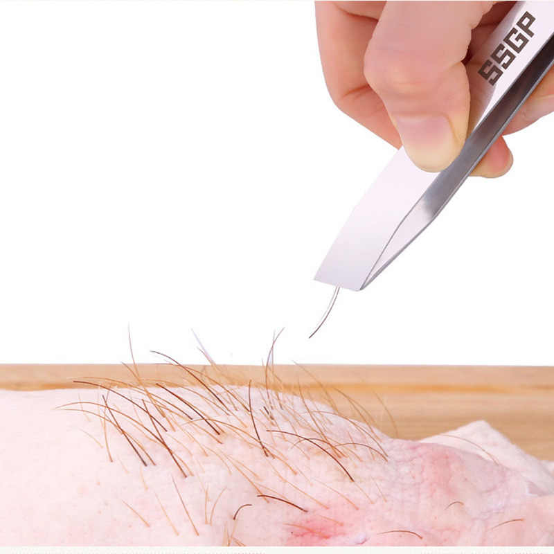 Kitchen Stainless Steel Pig Hair Pulling Chicken Duck Hair Clip Fish Bone Pliers Plucking Tweezers Hair Removal Pliers