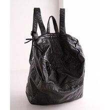 2016 mode Frauen Wasserdichte PU Leder Niet Rucksack frauen Rucksäcke für Teenager Mädchen Damen Taschen mit Reißverschlüsse Schwarz Taschen